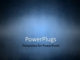 PowerPlugs: PowerPoint template with grunge texture background in blue
