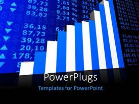 PowerPlugs: PowerPoint template with a grwoth table with the market values in the background
