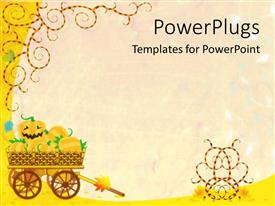 PowerPlugs: PowerPoint template with halloween background with a pumpkin smiling devilishly