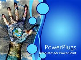 PowerPlugs: PowerPoint template with hand painted with a graphics and a small earth globe