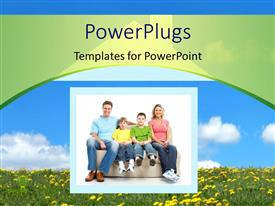 PowerPlugs: PowerPoint template with happy family in the new home with nature