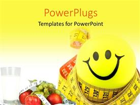 PowerPlugs: PowerPoint template with a happy sign with a yellowish background