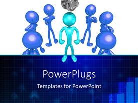 PowerPlugs: PowerPoint template with healthy 3D man surrounded by ugly looking ones on white background