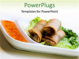 PowerPlugs: PowerPoint template with healthy delicious vegetarian food on a white colored background