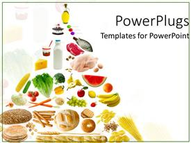 PowerPlugs: PowerPoint template with healthy eatables