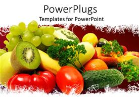 PowerPlugs: PowerPoint template with healthy Eating