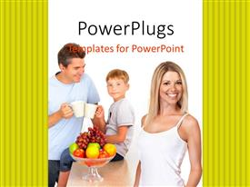 PowerPlugs: PowerPoint template with healthy family background with fruits