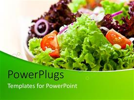 PowerPlugs: PowerPoint template with healthy and fresh fruits and vegetable salad