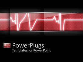 PowerPlugs: PowerPoint template with heart beat heart monitor in hospital black background