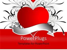 PowerPlugs: PowerPoint template with a heart with various patterns in the background