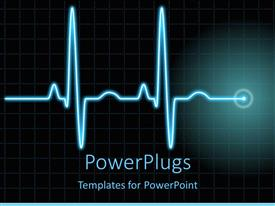 Beautiful PowerPoint having a heartbeat line with boxes in the background and place for text