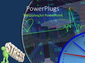 PowerPlugs: PowerPoint template with a heartbeat line with a number of stock market related stuff