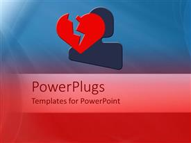PowerPlugs: PowerPoint template with a heartbroken person with blue and red background