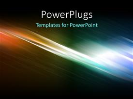 PowerPlugs: PowerPoint template with hi-tech abstract colorful digital background