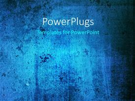 PowerPlugs: PowerPoint template with a bluish background with a place for text