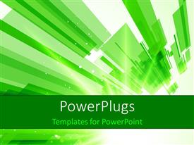 PowerPlugs: PowerPoint template with hi tech green and white design
