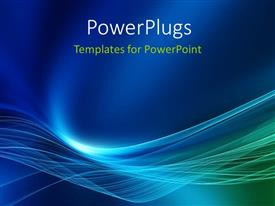 PowerPlugs: PowerPoint template with high energy light waves with blue