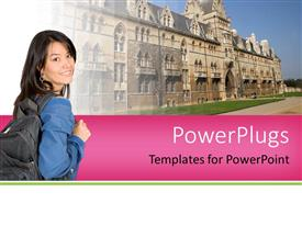 PowerPlugs: PowerPoint template with higher education concept with college