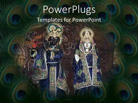 PowerPlugs: PowerPoint template with hindu deities god Krishna and goddess Radhain ceremonial dress