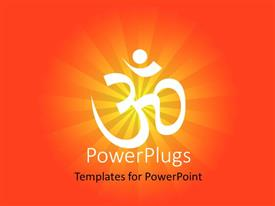 PowerPoint template displaying a Hindu sign with orange background