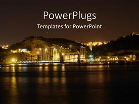 PowerPlugs: PowerPoint template with a historic industry on the verge of a river