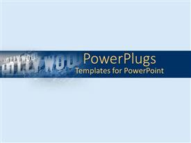 PowerPlugs: PowerPoint template with the hollywood sign with bluish background
