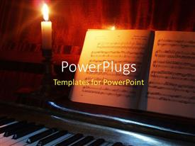 PowerPlugs: PowerPoint template with the holy bible with a lot of burning candles in the background