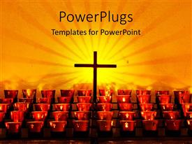 PowerPlugs: PowerPoint template with a holy cross with a number of candle holders