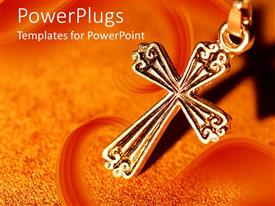 PowerPlugs: PowerPoint template with a holy cross with orange background
