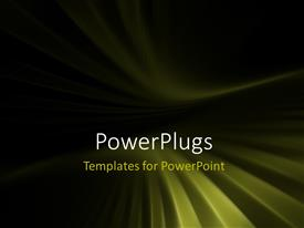 PowerPlugs: PowerPoint template with horizon perspective over city light grid