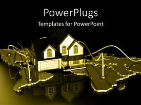 PowerPlugs: PowerPoint template with a house on map of the world