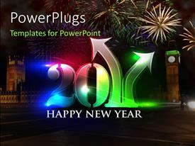PowerPlugs: PowerPoint template with a hug3 3D text that spells out the word '2011 '
