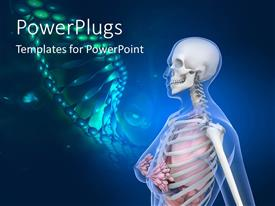 PowerPlugs: PowerPoint template with human anatomy with dna