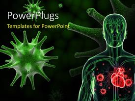 PowerPlugs: PowerPoint template with a human anatomy with various germs