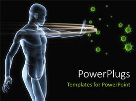 PowerPlugs: PowerPoint template with human antomy blocking viruses