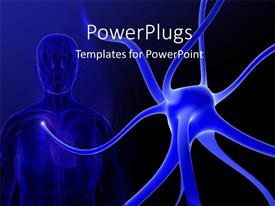 PowerPlugs: PowerPoint template with a human with bluish background and a place for text