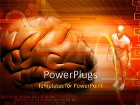 PowerPlugs: PowerPoint template with human brain and human body over colored background