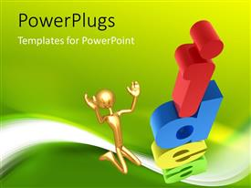 PowerPlugs: PowerPoint template with human character jumping with Idea letter written in different colors