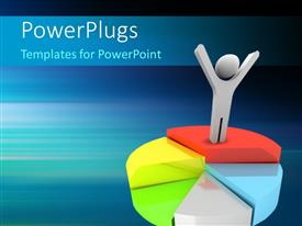 PowerPlugs: PowerPoint template with human character on the top of growing pie-chart