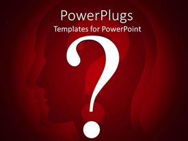 PowerPlugs: PowerPoint template with a human figure with question mark in his mind