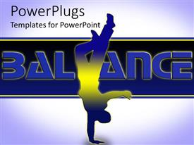 PowerPlugs: PowerPoint template with human figure trying to balance on one hand upside down