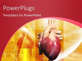 PowerPlugs: PowerPoint template with human heart in color background