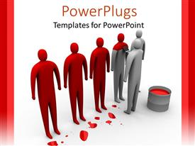 PowerPlugs: PowerPoint template with human painting white humans red with brush