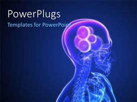 PowerPlugs: PowerPoint template with a human system with gears instead of brain