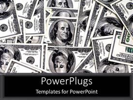 PowerPlugs: PowerPoint template with hundred dollar bills with face of Benjamin Franklin