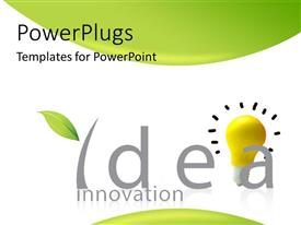 PowerPlugs: PowerPoint template with an idea with green and white background