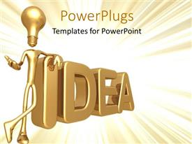 PowerPlugs: PowerPoint template with an idea with a yellowish background and a place for text