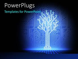 PowerPlugs: PowerPoint template with an illuminated part of a circuit