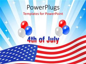 PowerPlugs: PowerPoint template with illustration of american independence concept, with celebration theme