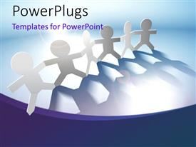 PowerPlugs: PowerPoint template with importance of team work with a ray of light